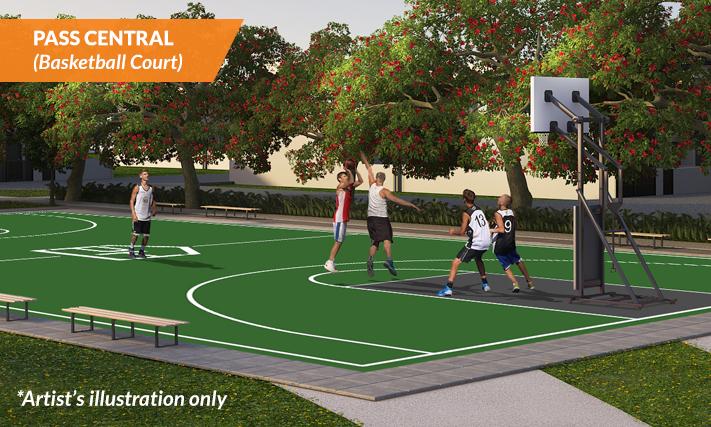 PASS CENTRAL - basketball court